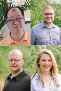 Clockwise, from top left: R&D Engineer Shau-Gan Chang, Product Manager Andrew Harrison, Supply Chain Manager Stephani Leslie and Quality Assurance Manager Jamie Lee.